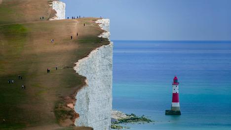 140323ビーチ岬の灯台@イギリス イースト・サセックス