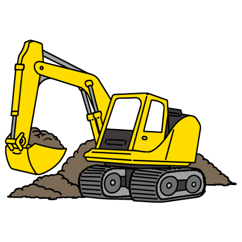 hydraulic_excavator_yellow