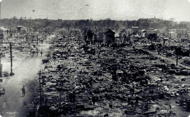 戦争、焼け野原