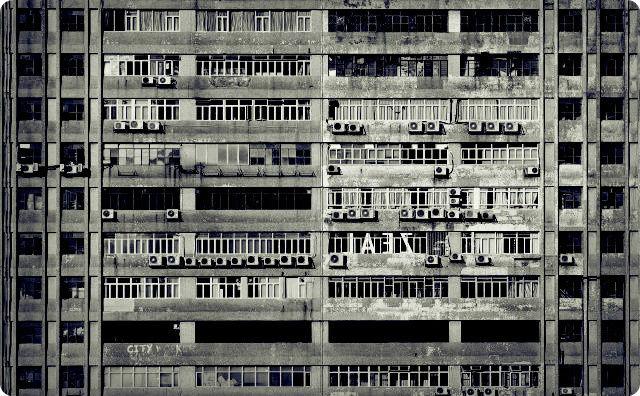 古びたマンション