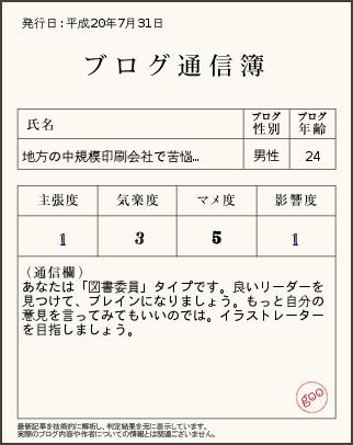ブログ通信簿ver7.31