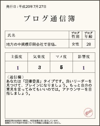 ブログ通信簿ver7.27