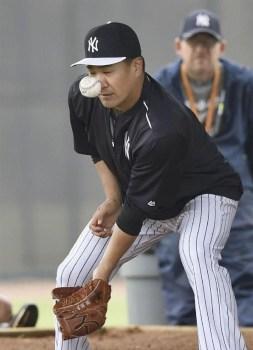 田中将大顔面死球