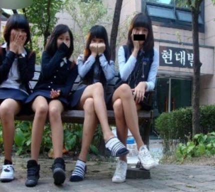 韓国の女子中学生