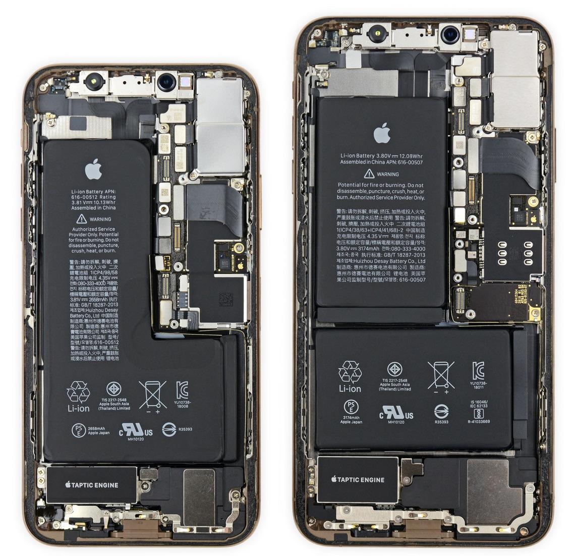 話題の新スマホ「iPhone XS」と「iPhone XS Max」がiFixitによって分解 ...