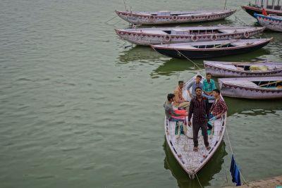 ガンジス川のボート