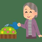gardening_obaasan