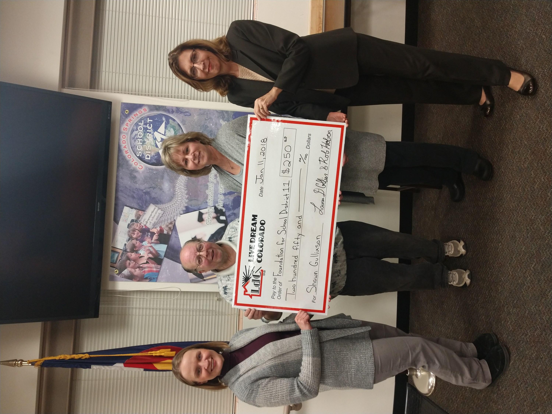 Foundation For School District 11 – Teacher Program