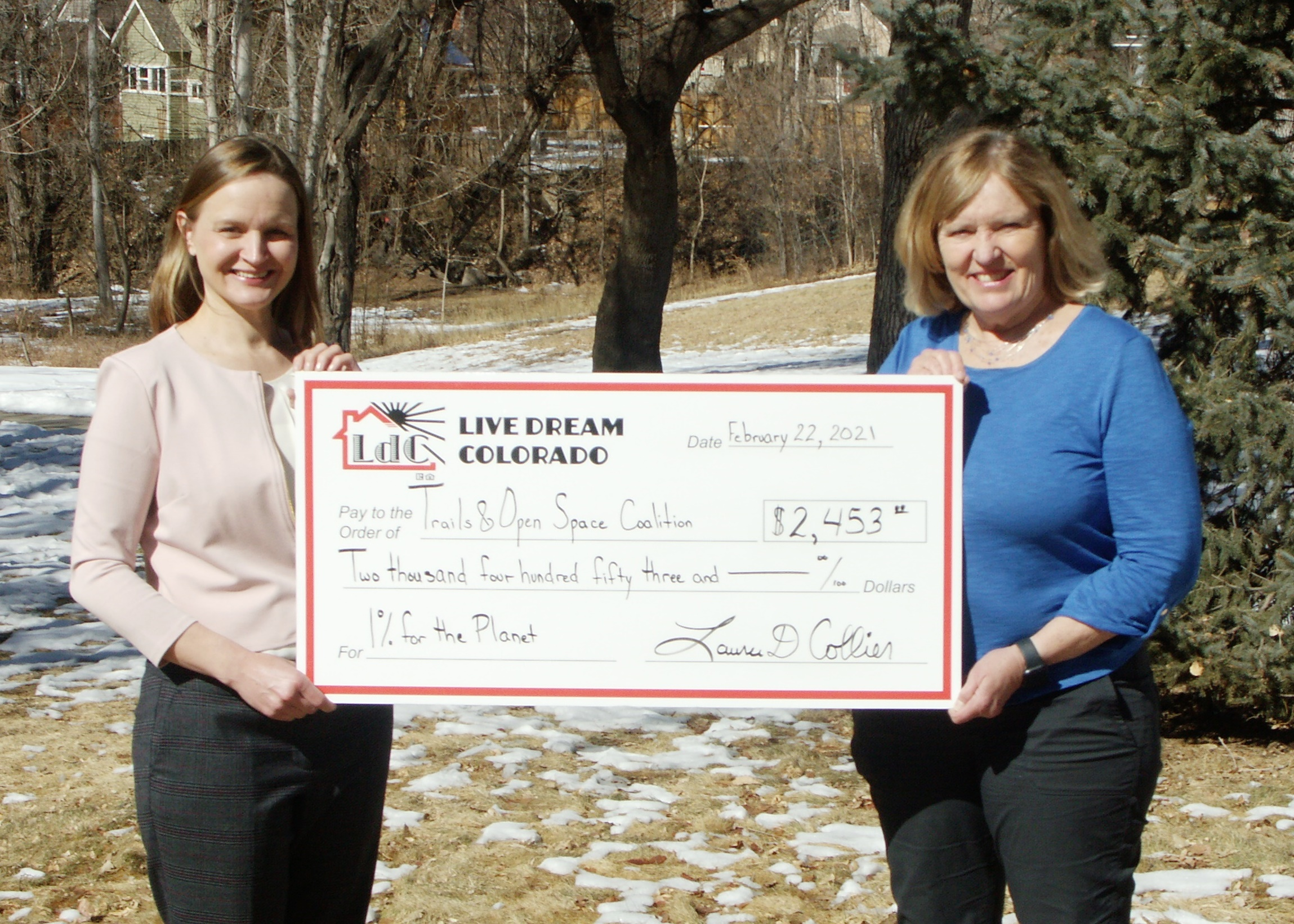 For The Seventh Year Real Estate Brokerage Live Dream Colorado Fulfills Annual 1% For The Planet Pledge, Donating To Support The Environment