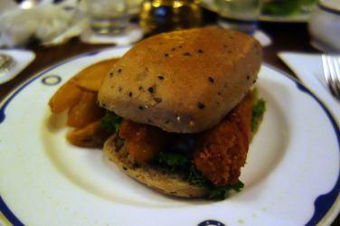 Fried Prawn Sandwich with Chips
