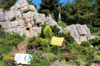 The dwarfs' mine and house from Snow White and the Seven Dwarfs