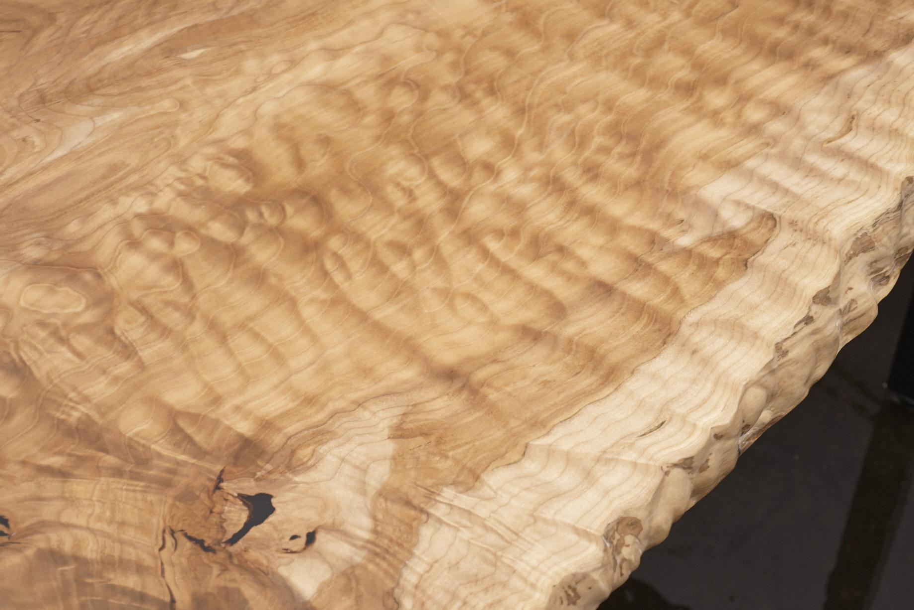Maple slab grain detail.