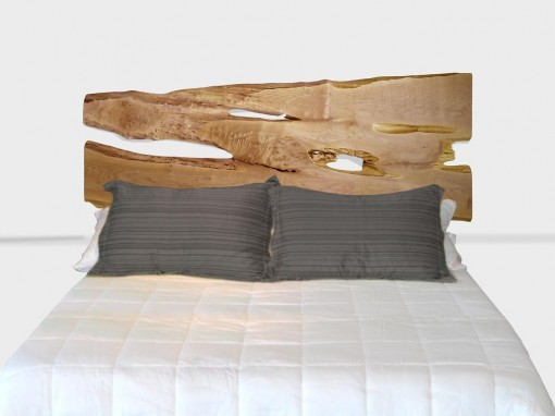 Live edge, maple slab king headboard