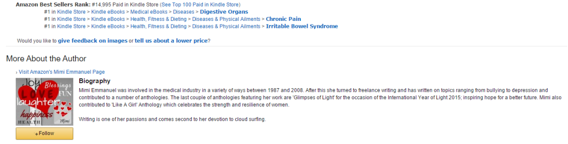 AA AMAZON BESTSELLER CHRONIC PAIN IRRITABLE BOWEL DIGESTIVE 26122015