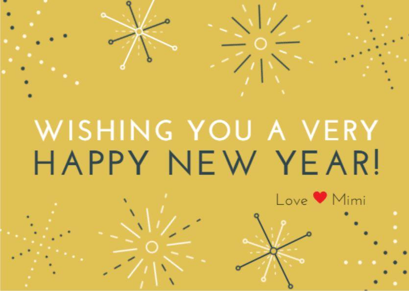 HAPPY NEW YEAR yellow