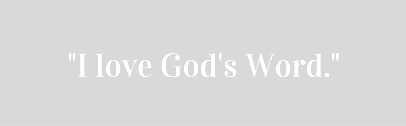 I LOVE GODS WORD