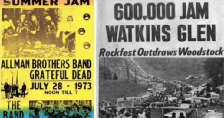 summer jam, watkins glen summer jam, grateful dead summer jam, allman brothers summer jam, grateful dead, allman brothers