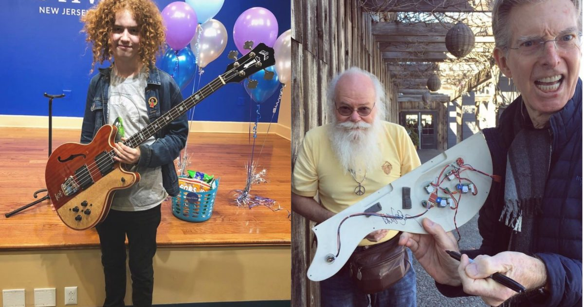 Grateful Teen Receives Dream Bass From Phil Lesh Guild Amp Alembic Through Make A Wish