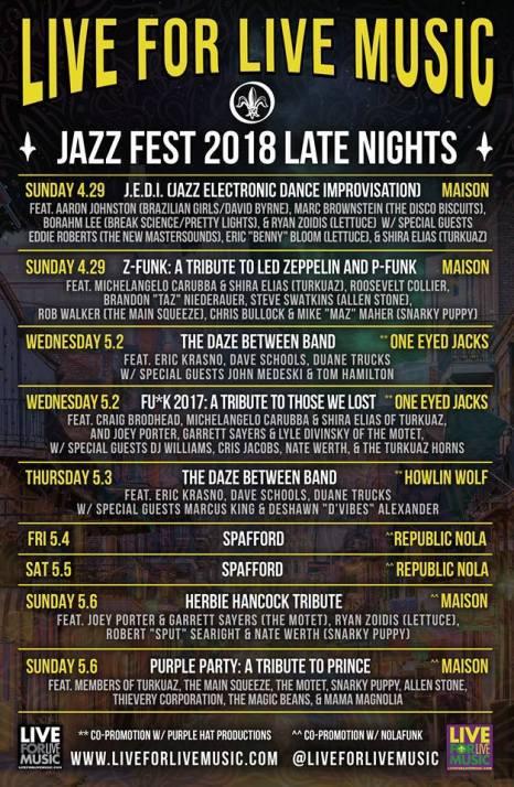 live for live music jazz fest