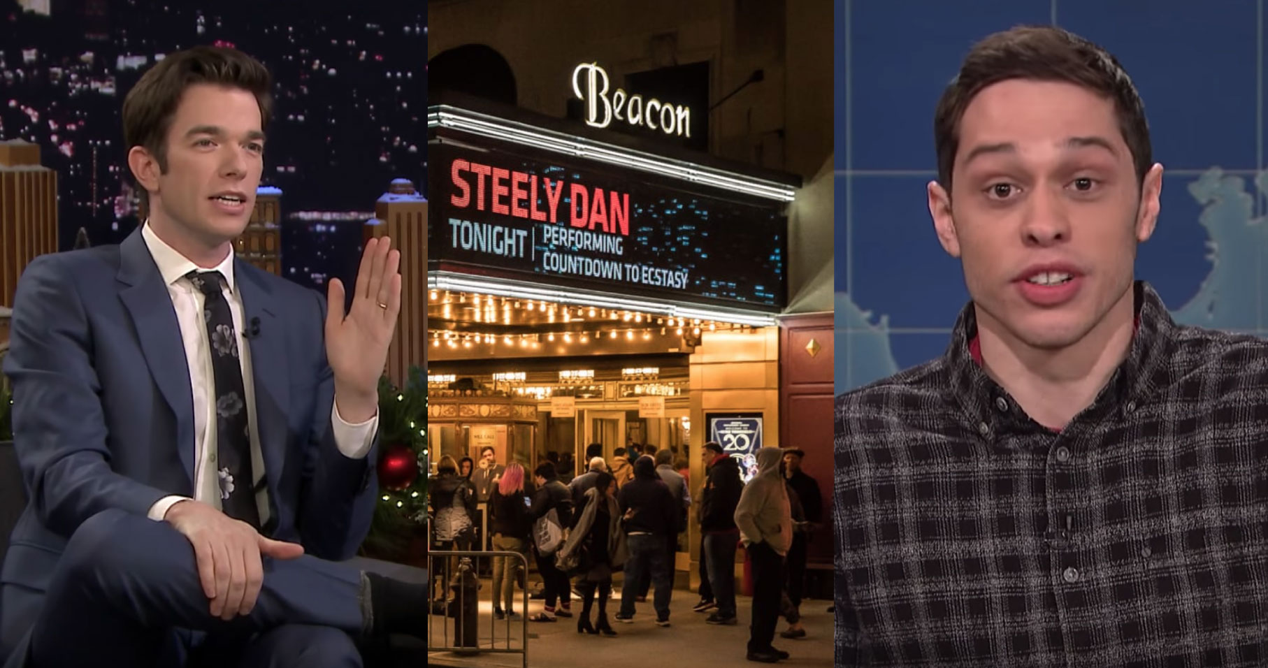 John Mulaney Took Pete Davidson To See Steely Dan And He Got The Whole Crowd To Stand Up And Dance [Video]
