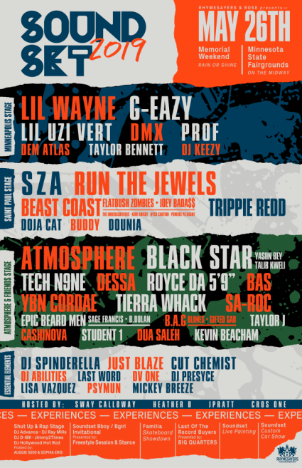 Soundset Announces 2019 Lineup: Black Star, Run The Jewels