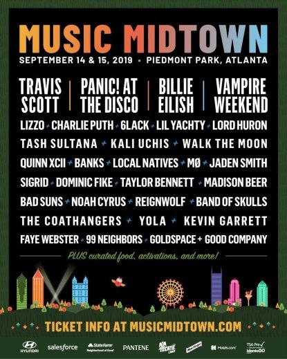 music midtown, music midtown 2019 lineup, music midtown tickets, music midtown atlanta, music midtown travis scott