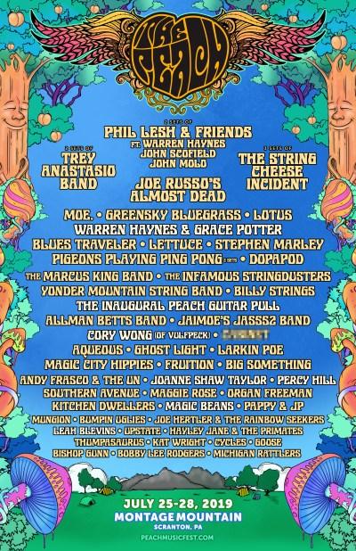Peach Music Festival, The peach, the peach 2019, the peach 2019 lineup, peach music festival lineup 2019