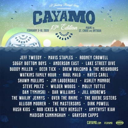 caymo, caymo 2020, caymo cruise, caymo cruise 2020 lineup, caymo cruise jeff tweedy, caymo cruise mavis staples, caymo cruise tickets, jam cruise 2020, jam cruise 2020 tickets, jam cruise 2020 lineup