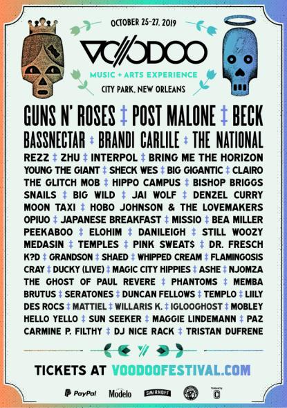 voodoo festival 2019, voodoo fest halloween, new orleans voodoo fest, new orleans voodoo fest tickets, voodoo festival 2019 lineup