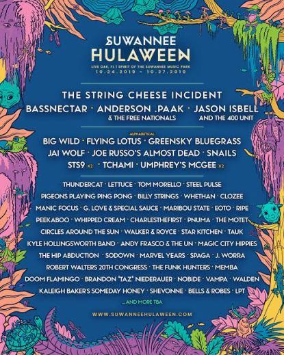 suwanee hulaween 2019, suwanee hulaween 2019 lineup, suwanee hulaween 2019 tickets, suwanee hulaween 2019 artists