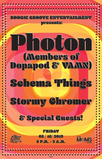 Photon, Photon Denver, Photon Your Mom's House, Stormy Chromer, Schema Things