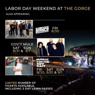 Dave Matthews Band Gorge, DMB Gorge, DMB Gov't Mule, DMB lettuce