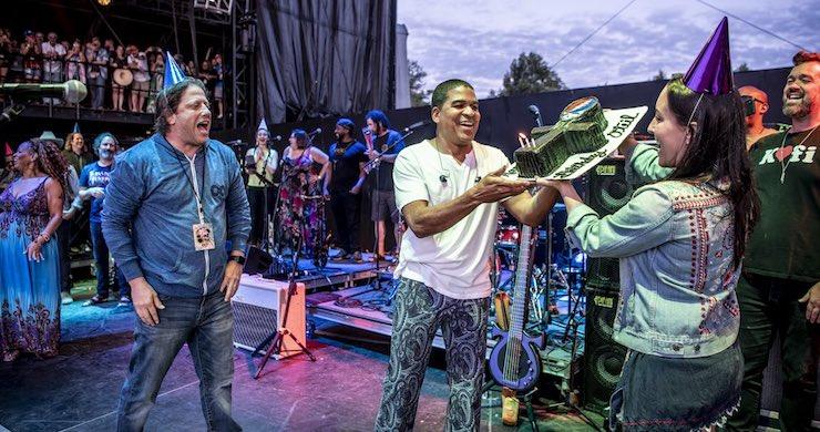 Oteil Burbridge Celebrates Birthday With Guest-Filled Oteil & Friends Performance At LOCKN' [Videos]