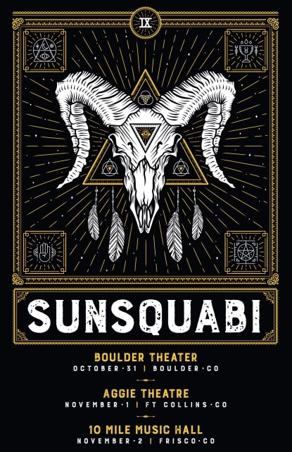 sunsquabi, sunsquabi fall tour, sunsquabi tickets, sunsquabi boulder theater, sunsquabi halloween, sunsquabi nobide