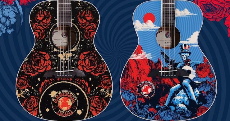 alvarez guitars grateful dead, grateful dead guitars, grateful dead art