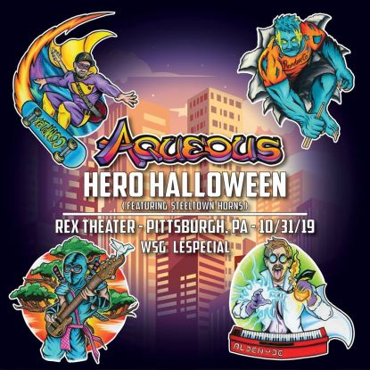 aqueous, aqueous halloween, aqueous 2019, aqueous tickets, aqueous tour, aqueous music, aqueous band