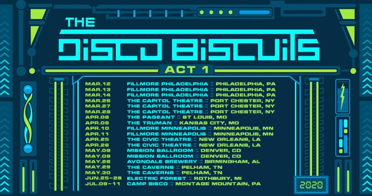 The Disco Biscuits, The Disco Biscuits tour, The Disco Biscuits tour dates, Disco Biscuits tour, Biscuits, set break is over, Bisco