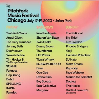 pitchfork festival 2020