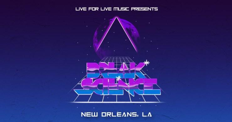 Break Science, Break Science Jazz Fest, Break Science New Orleans, Break Science tour, Break Science tickets, Break Science Jazz Fest, Jazz Fest Grids, Jazz Fest by night, Jazz Fest Late Night