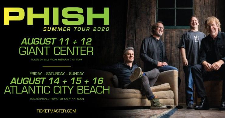 phish, phish hershey pa, phish atlantic city, phish summer tour