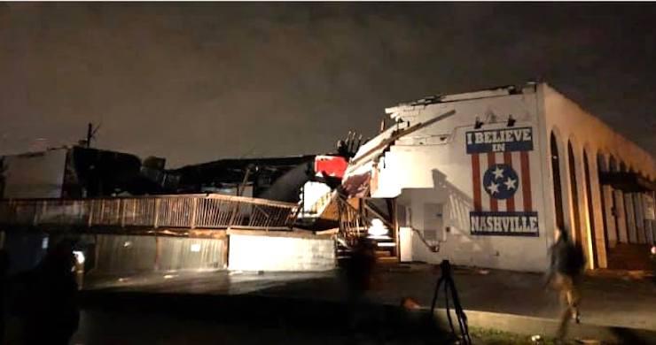Nashville tornado caught on camera