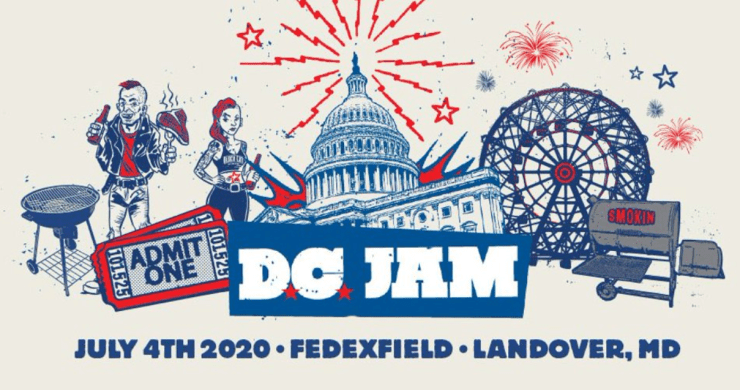 D.C. Jam Lineup, foo fighters, chris stapleton, pharrell, the go-go's, band of horses, durand jones and the indications, the regrettes, beach bunny, radkey, 2020 lineup
