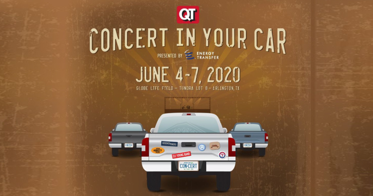 drive-in concert, drive-in concerts, drive-in concert texas, drive-in texas rangers, texas rangers drive-in concerts, Whiskey Myers, eli young band, pat green, josh abbott band, kevin fowler, texas rangers, globe life park