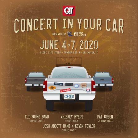 concert in your car, texas rangers concert