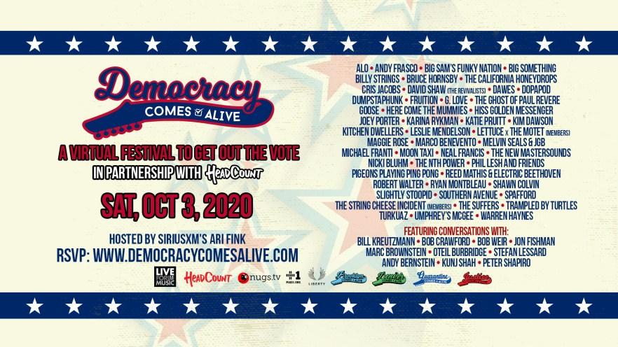 democracy comes alive lineup