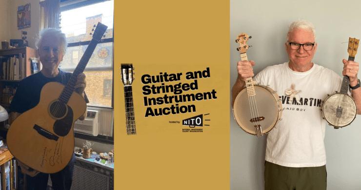 nito auction, nito, nito guitar auction, steve martin banjo, graham nash guitar, leon bridges guitar, national independent talent organization