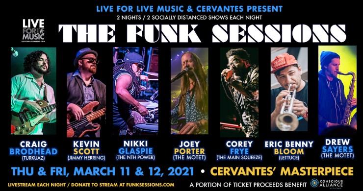 the funk sessions, funk sessions, funk sessions denver, funk sessions live for live music, funk sessions cervantes, joey porter, craig brodhead, corey frye, nikki glaspie