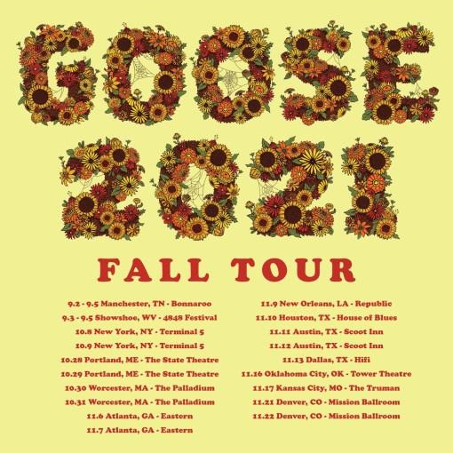 goose tour, goose fall tour, goose tour 2021, goose mission ballroom, goose worcester, goose terminal 5