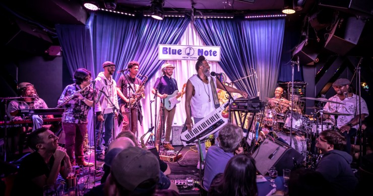 ghost-note, blue note, louis cato, sput, casey benjamin, maurice mobetta brown, blue note jazz festival, ghost-note tour