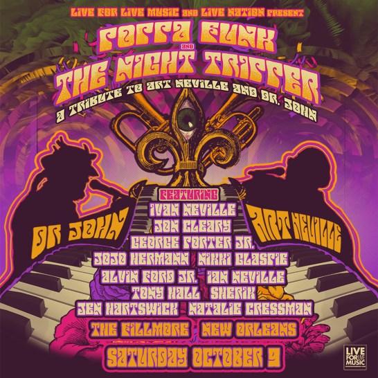 poppa funk, night tripper, poppa funk night tripper, dr john tribute jazz fest, art neville tribute jazz fest